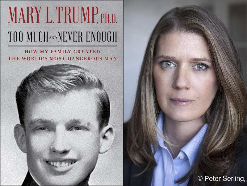 Mary Trump and the cover of her book