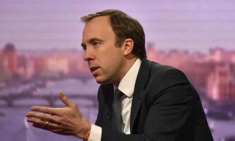 Matt Hancock on The Andrew Marr Show.