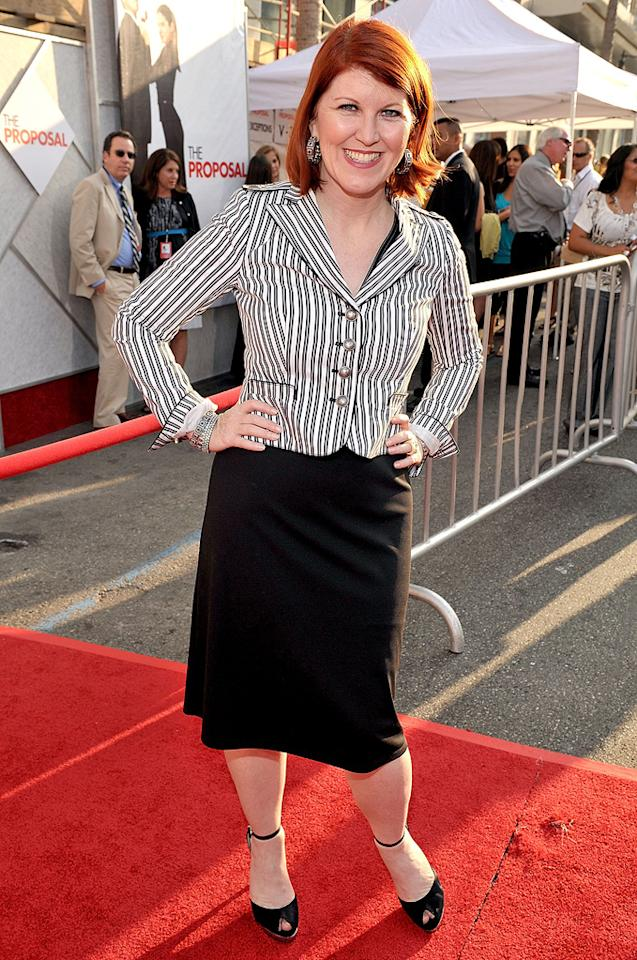 """<a href=""""http://movies.yahoo.com/movie/contributor/1809019783"""">Kate Flannery</a> at the Los Angeles premiere of <a href=""""http://movies.yahoo.com/movie/1810012112/info"""">The Proposal</a> - 06/01/2009"""