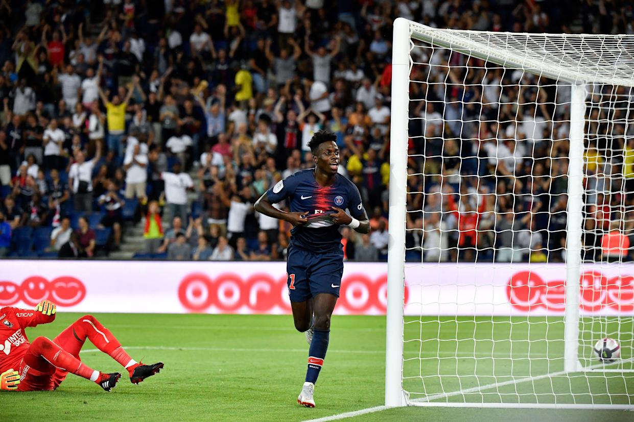Tim Weah scored his first Ligue 1 goal for PSG last month. (Getty)