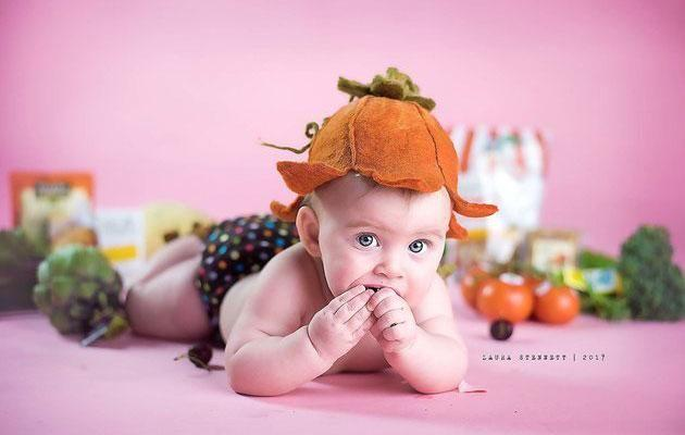 Lola loved the veggies just as much. Photo: Laura Stennett Photography