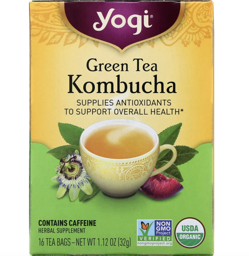 Yogi Tea, Organic, Green Tea Kombucha, 16 Tea Bags, 32g, S$5.96. PHOTO: iHerb