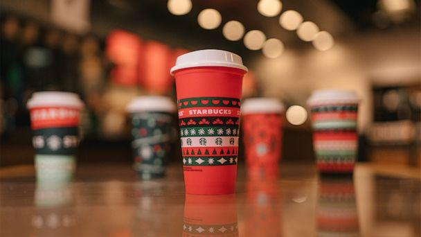 PHOTO: The collectible holiday cup available for free on Nov. 6 with a holiday drink order.  (Starbucks)
