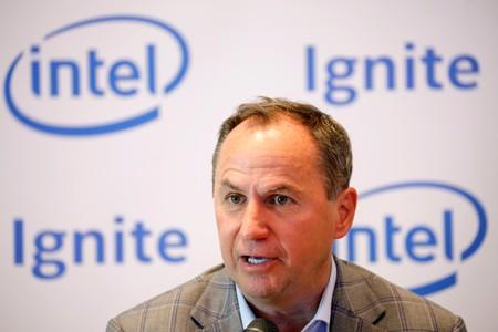 Intel CEO Robert Swan speaks during a roundtable event with members of the media in Tel Aviv