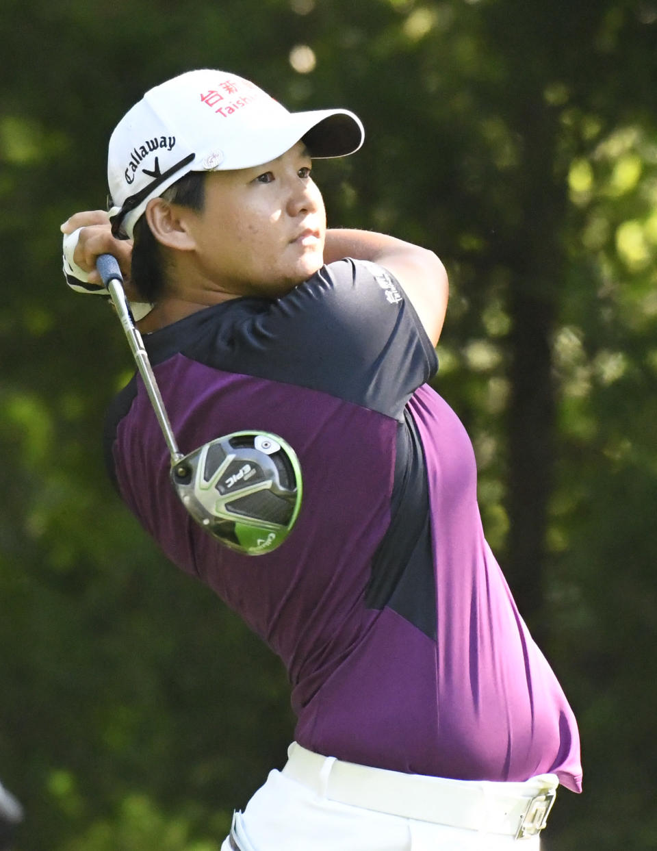FILE - In this Friday, June 29, 2018 file photo, Yani Tseng, of Taiwan, watches her tee shot on the 12th hole during the second round of the KPMG Women's PGA Championship golf tournament at Kemper Lakes Golf Club in Kildeer, Ill. Tseng, who has gone from No. 1 to No. 919 in the world, returns to the LPGA Tour this week for the first time in nearly two years. (AP Photo/David Banks, File)