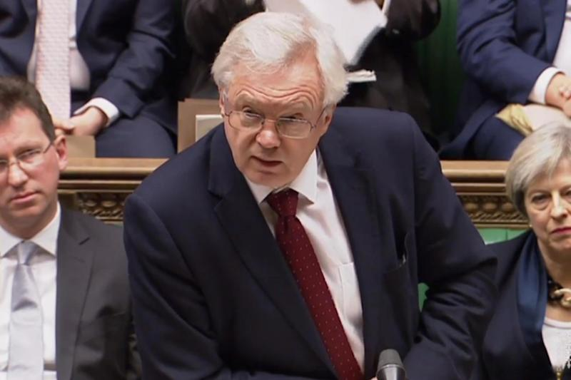 Brexit Secretary David Davis has come under fire for his comments on the Brexit deal: AFP/Getty Images