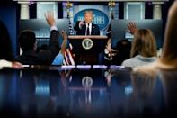 US President Donald Trump is sounding more serious on COVID-19