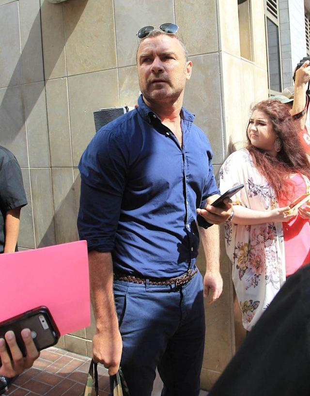 Actor Liev Schreiber attended Comic-Con this year, and brought along his 8- and 9-year-old sons. (Photo: Getty Images)