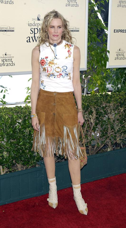 Daryl Hannah, 2002<br><br>Note to all celebs: Never wear fringe to an A-list event. Ever.