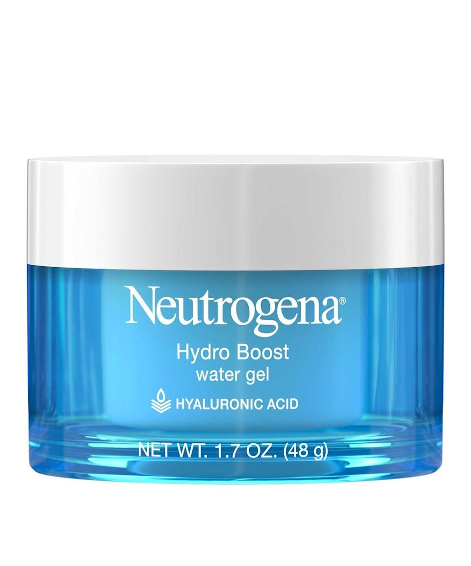 """<p>""""Acne creams can really dry you out, which is why I love the <span>Neutrogena Hydro Boost Water Gel Moisturizer</span> ($15). It has hyaluronic acid in it, which is a potent water attractant that keeps moisture on your skin. After washing your face, apply the Hydroboost immediately to seal in moisture."""" - dermatologist <a href=""""http://instagram.com/drsarand"""" class=""""link rapid-noclick-resp"""" rel=""""nofollow noopener"""" target=""""_blank"""" data-ylk=""""slk:Sara Moghaddam"""">Sara Moghaddam</a>, MD</p> <p>""""Neutrogena Hydroboost Gel Cream moistures for 24 hours and does not feel greasy or clog pores."""" - Dr. Vaidya</p>"""