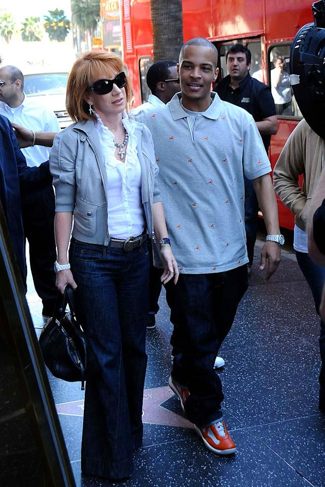 """Kathy Griffin and T.I. create a frenzy while hanging out together on Hollywood Boulevard. Phamous Photos/<a href=""""http://www.splashnewsonline.com/"""" target=""""new"""">Splash News</a> - March 3, 2009"""