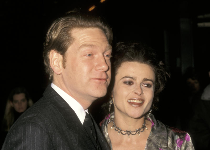 Kenneth Branagh and Helena Bonham Carter at the NY Premiere of 'The Theory of Flight', Sony Lincoln Square, New York City. (Photo by Ron Galella/Ron Galella Collection via Getty Images)