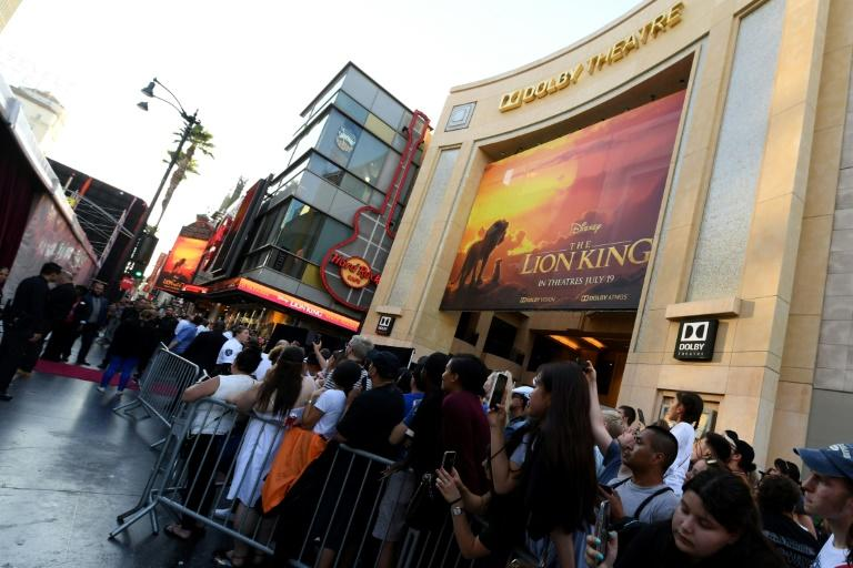 "A trailer for the new ""Lion King"" was watched by 225 million people in its first 24 hours, shattering Disney's record (AFP Photo/Robyn Beck)"
