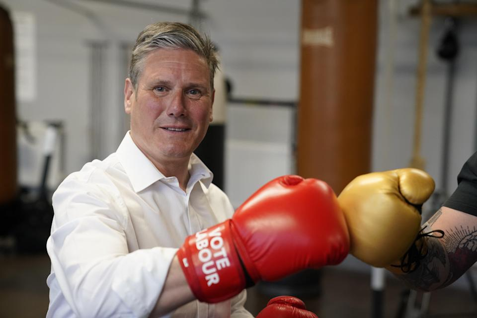 Labour leader Sir Keir Starmer will tour the country before the polls open for 'Super Thursday' as his party fights to hang on in its traditional heartlands, according to polling (PA Wire)