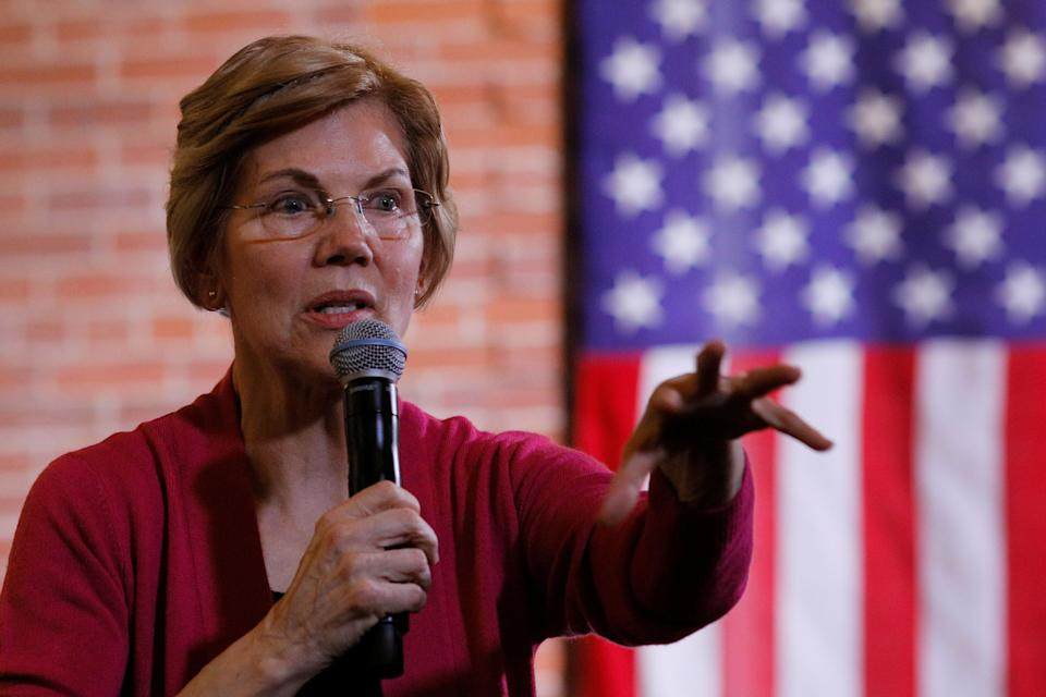 Potential 2020 U.S. Democratic presidential candidate and U.S. Senator Elizabeth Warren (D-MA) speaks at an Organizing Event in Claremont, New Hampshire, U.S., January 18, 2019.   REUTERS/Brian Snyder