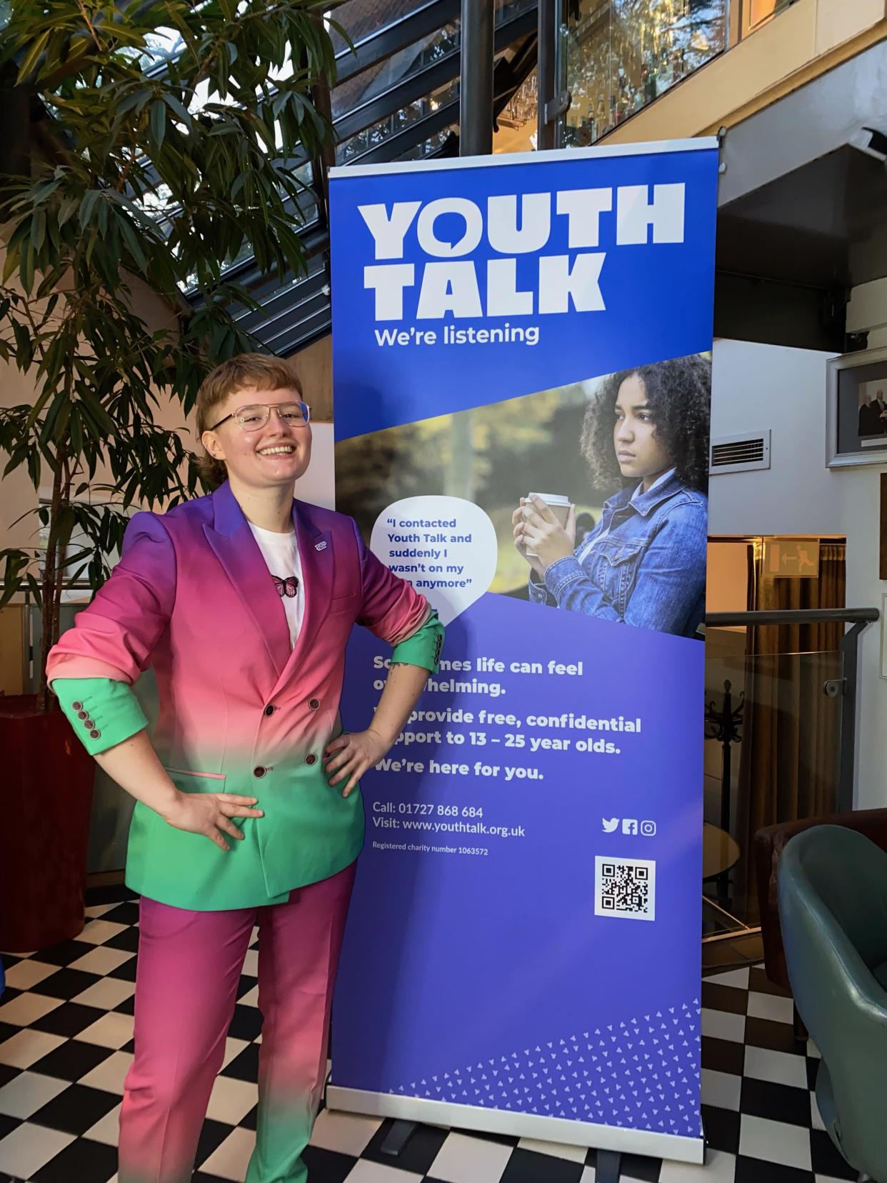Mia Arundel works with Youth Talk to help support other young people. (Supplied)