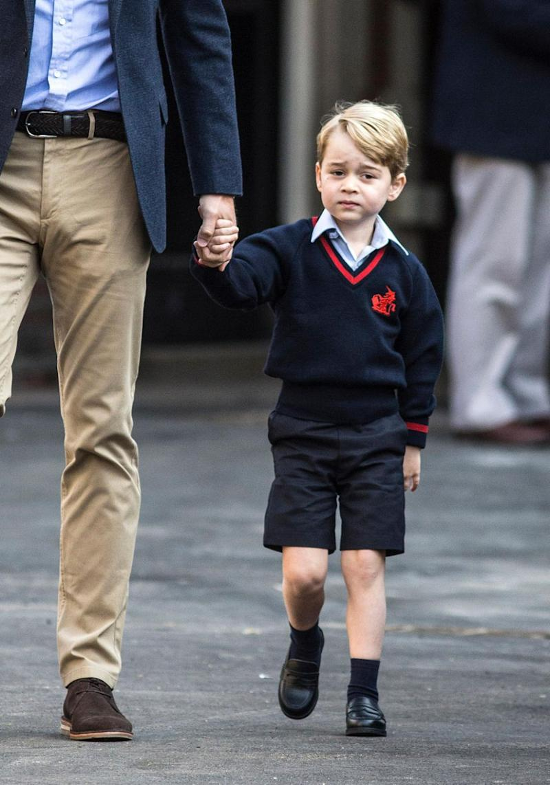 Prince George wasn't the only role starting at Thomas's Battersea in London on Thursday. George's cousin Maud Windsor also started at the school the same day. Source: Getty