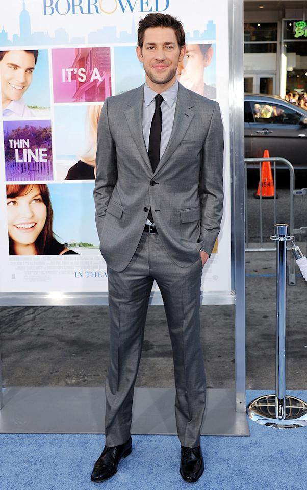 "<a href=""http://movies.yahoo.com/movie/contributor/1808573056"">John Krasinski</a> attends the Los Angeles premiere of <a href=""http://movies.yahoo.com/movie/1810158033/info"">Something Borrowed</a> on May 3, 2011."