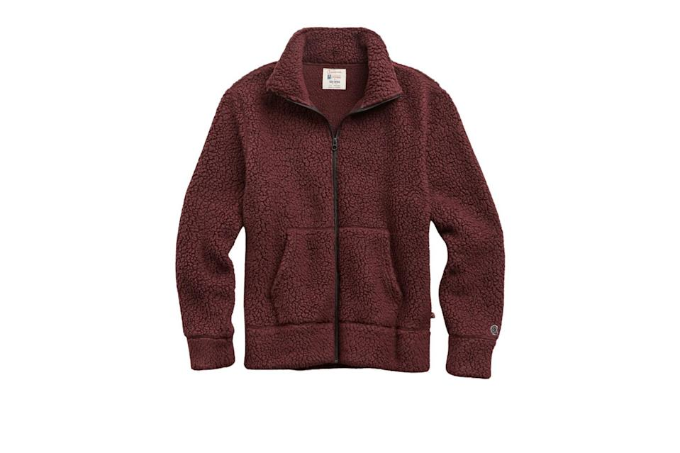 "$198, Todd Snyder. <a href=""https://www.toddsnyder.com/collections/sale/products/full-zip-polartec-raisin-1"" rel=""nofollow noopener"" target=""_blank"" data-ylk=""slk:Get it now!"" class=""link rapid-noclick-resp"">Get it now!</a>"