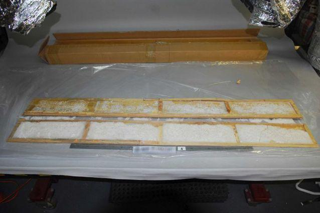 The drugs were found packed into floorboards. Source: Australian Federal Police