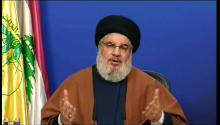 """Hezbollah chief Hassan Nasrallah has warned that the formation of a new government in multi-confessional Lebanon """"will be no easy feat"""" (AFP Photo/-)"""