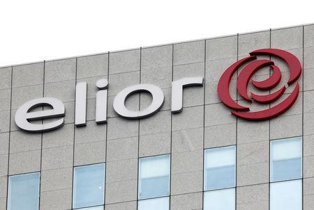 The logo catering group Elior is seen on top of the company's headquarters