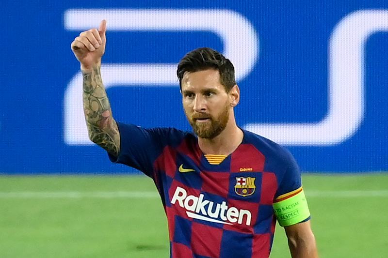 After a couple weeks of drama, Lionel Messi will reportedly announce he's staying at Barcelona. (Photo by LLUIS GENE/AFP via Getty Images)