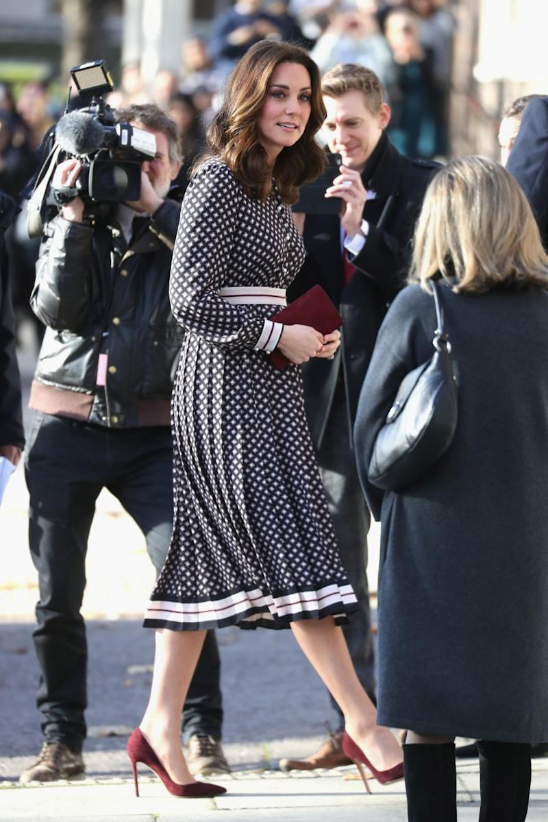 The pregnant duchess stunned in a Kate Spade dress. Photo: Getty