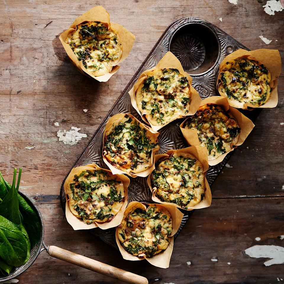 <p>This mini quiche recipe uses classic Provençal flavors--garlic, oil-cured olives, anchovies, caramelized onions--to season these very-green egg cups. They keep well, perfect for breakfast on the fly, but the flavors are sophisticated enough to serve for brunch. If you frequently make mini quiches, consider investing in silicone mini muffin tins; they make popping these out a dream!</p>
