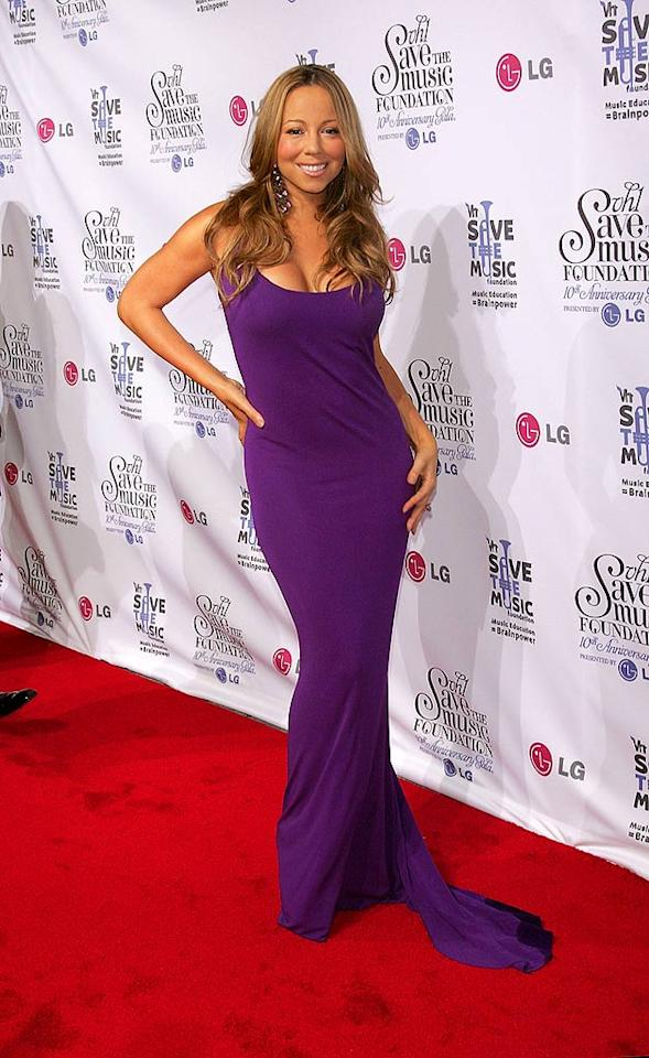 "Mariah Carey flaunts her fabulous curves at the VH1 Save The Music Foundation's 10th Anniversary Gala in New York. Jim Spellman/<a href=""http://www.wireimage.com"" target=""new"">WireImage.com</a> - September 20, 2007"