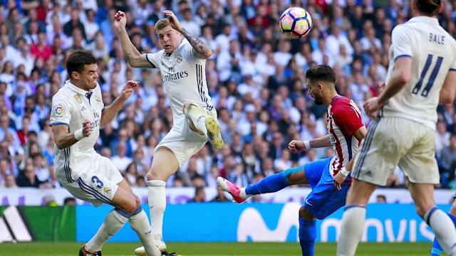 Former Real Madrid defender Fernando Sanz believes their big-game experience will see them to victory against Atletico Madrid.
