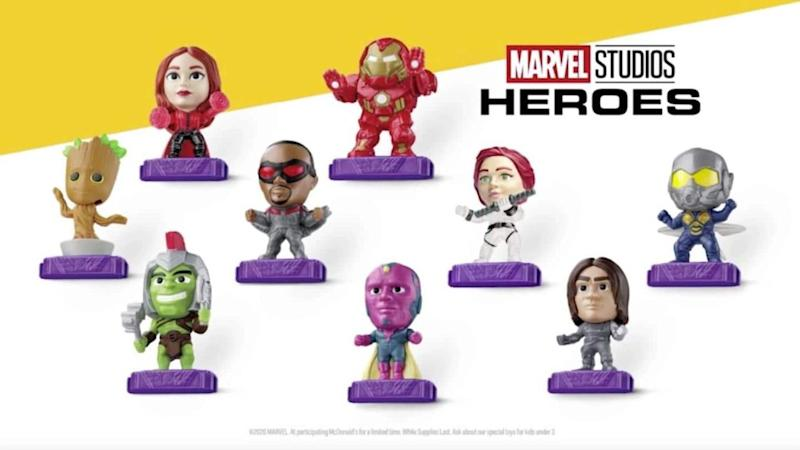 Play with Marvel superheroes while munching on McDonald