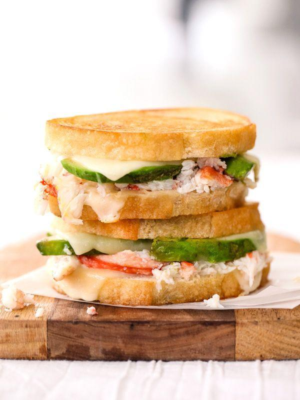 """<p>Try adding seafood for a fresh, summertime twist.</p><p>Get the recipe from <a href=""""http://www.foodiecrush.com/2014/04/crab-and-avocado-grilled-cheese/"""" rel=""""nofollow noopener"""" target=""""_blank"""" data-ylk=""""slk:Foodie Crush"""" class=""""link rapid-noclick-resp"""">Foodie Crush</a>.</p>"""