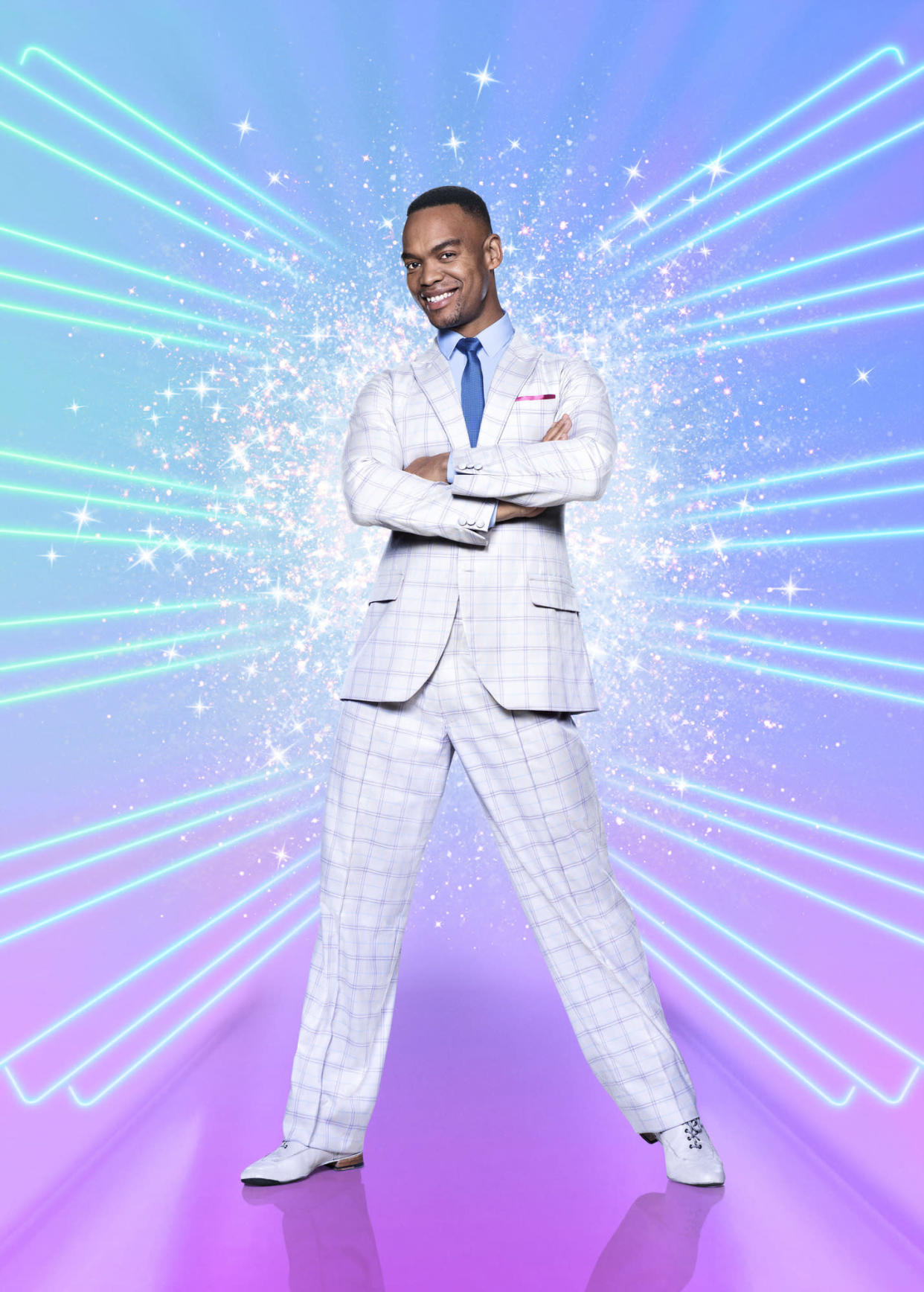 Programme Name: Strictly Come Dancing - TX: 17/10/2020 - Episode: Launch show (No. n/a) - Picture Shows:  Johannes Radebe - (C) BBC - Photographer: Ray Burmiston