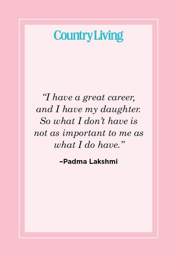 "<p>""I have a great career, and I have my daughter. So what I don't have is not as important to me as what I do have.""</p>"