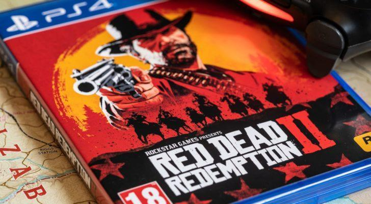 an image of the box for Take Two's (TTWO) Red Dead Redemption 2 for the PlayStation 4