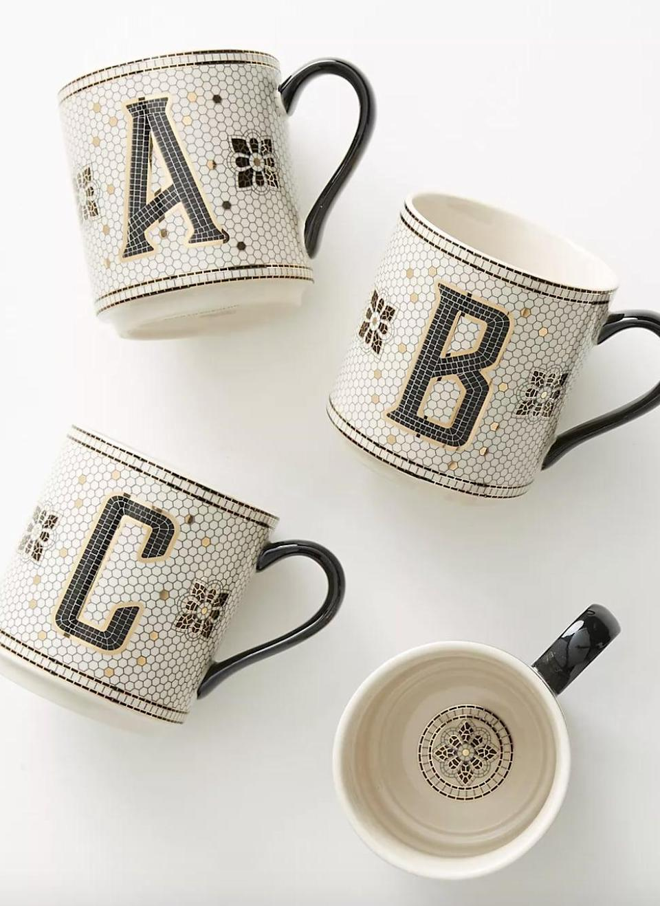<p>They can drink her morning brew from this <span>Tiled Margot Monogram Mug </span> ($14). The personalized element will make them feel special.</p>