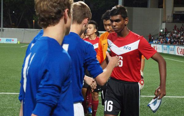 Jeffrey felt that Dhukhilan did very well in leading the team. (Photo by Football Association of Singapore)