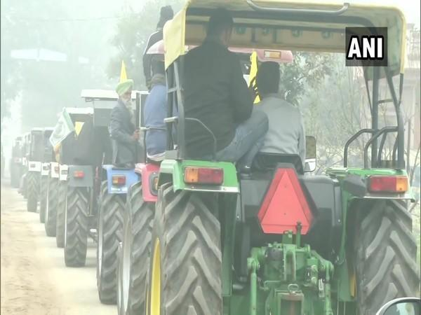 Farmers are scheduled to hold a tractor rally on Republic Day. (Photo/ANI)