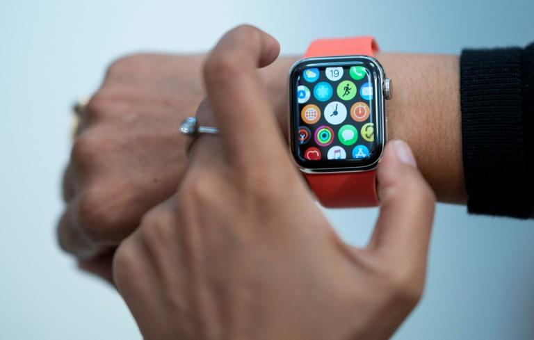 The Apple Watch has shaken up the market for wearable tech and pressured Fitbit, which had been the leader in the segment (AFP Photo/Johannes EISELE)