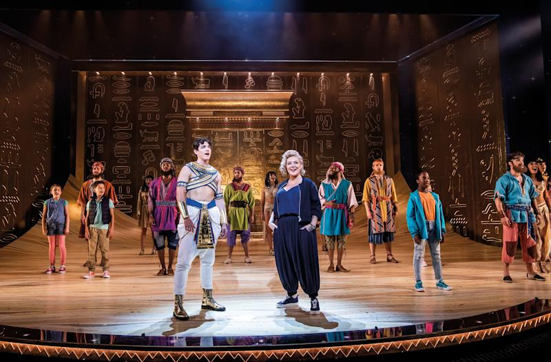 Jac Yarrow as Joseph and Sheridan Smith as the Narrator in Joseph and the Amazing Technicolor Dreamcoat