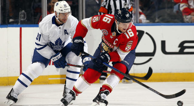 The strong play of Florida's Aleksander Barkov at both ends of the ice made him the best player on the ice in the Panthers-Leafs game on Saturday night. Considering how good Toronto's Mitch Marner was, that's saying something. (Getty)