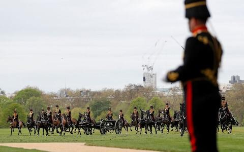 Members of the Kings Troop Royal Horse Artillery - Credit: ADRIAN DENNIS /AFP