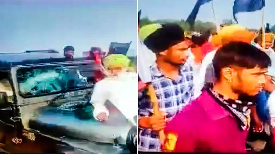 UP: Video shows farmers being run over by SUV
