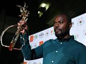 Rwandan director Joel Karekezi, winner of the Golden Stallion of Yennenga in 2019 for 'The Mercy of the Jungle.' The trophy is named after a beast in Burkinabe mythology (AFP/ISSOUF SANOGO)