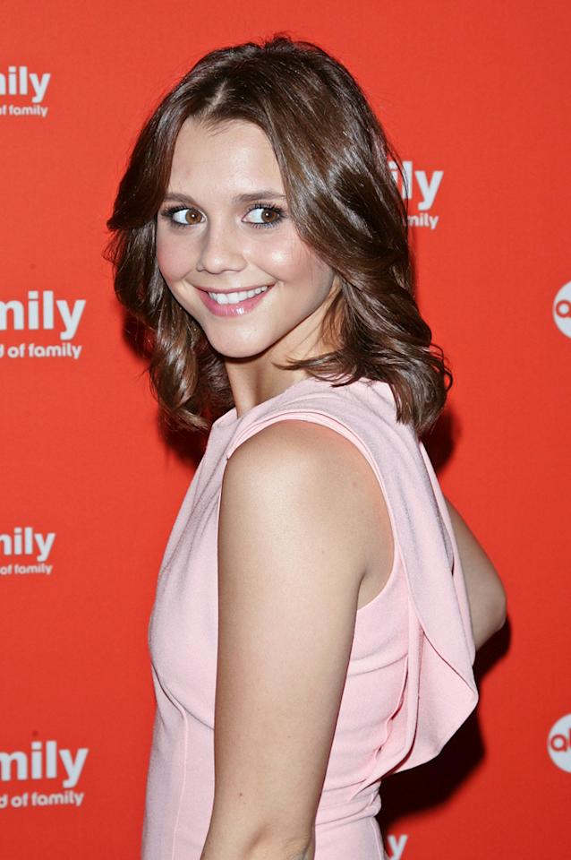 """Alexandra Chando (""""<a href=""""http://tv.yahoo.com/lying-game/show/47177"""">The Lying Game</a>"""") attends ABC Family's 2012 Upfront Presentation at the Mandarin Oriental Hotel on March 19, 2012 in New York City."""