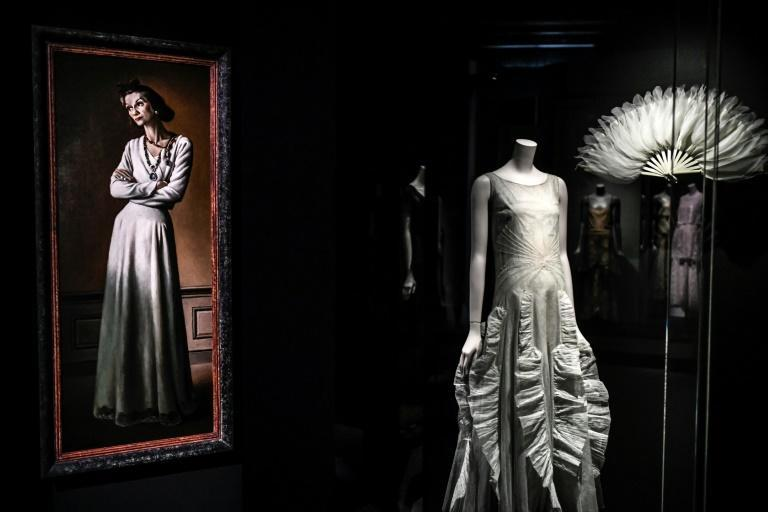 A portrait of French designer Gabrielle Chanel at the first Paris retrospective show of her work which was halted by the coronavirus lockdown last year