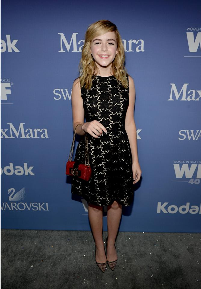 BEVERLY HILLS, CA - JUNE 12: Actress Kiernan Shipka, co-recipient of The Lucy Award for Excellence in Television, attends Women In Film's 2013 Crystal + Lucy Awards at The Beverly Hilton Hotel on June 12, 2013 in Beverly Hills, California. (Photo by Michael Buckner/Getty Images for Women In Film)