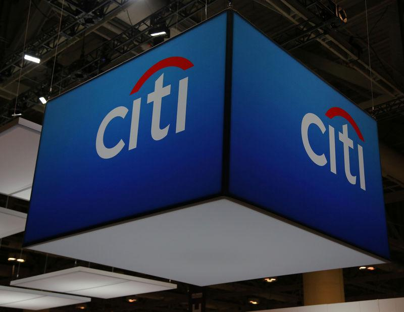 The Citigroup Inc logo is seen at the SIBOS banking and financial conference in Toronto
