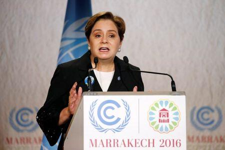 Executive Secretary of the UNFCCC Patricia Espinosa speaks during the opening of the UN Climate Change Conference 2016 (COP22) in Marrakech